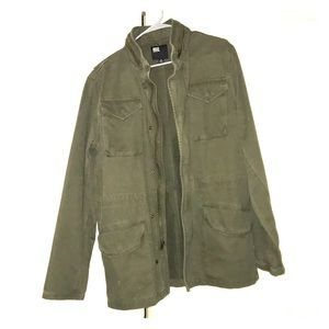 RSQ thick forest green, coat jacket.